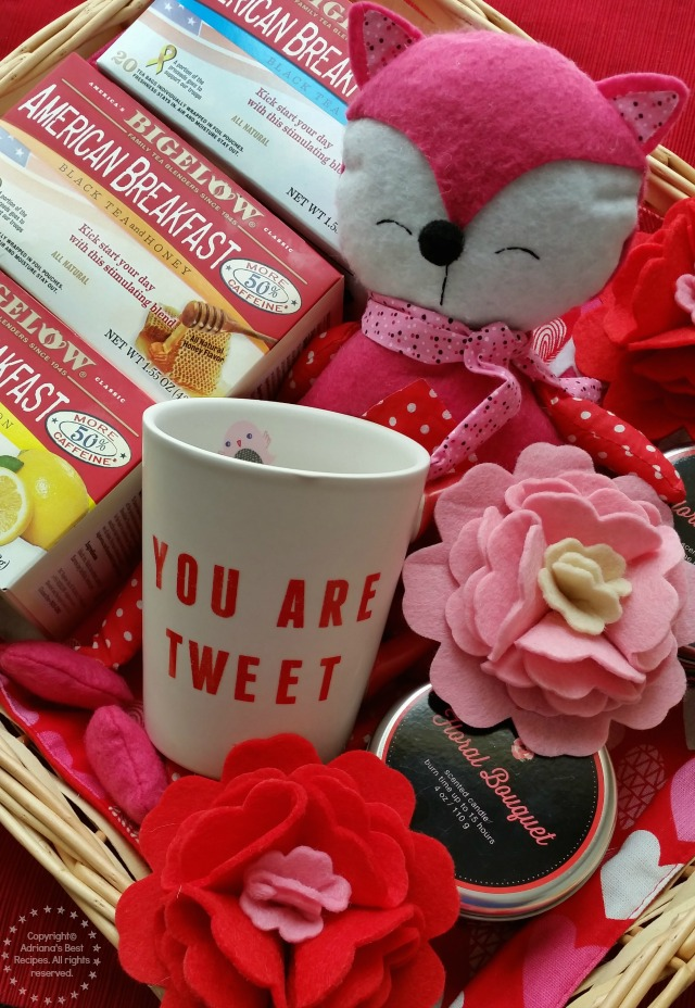 Valentines Basket with Bigelow American Breakfast Teas #AmericasTea #ad