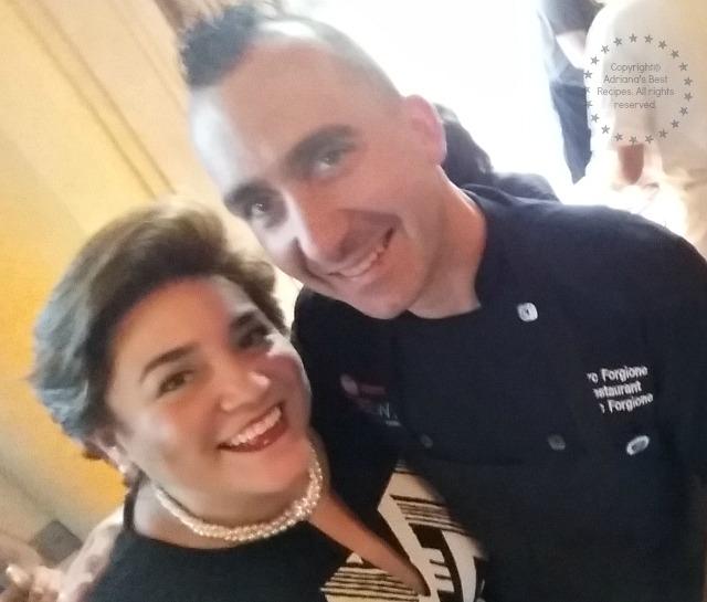 Adriana Martin and Celebrity Chef Marc Forgione