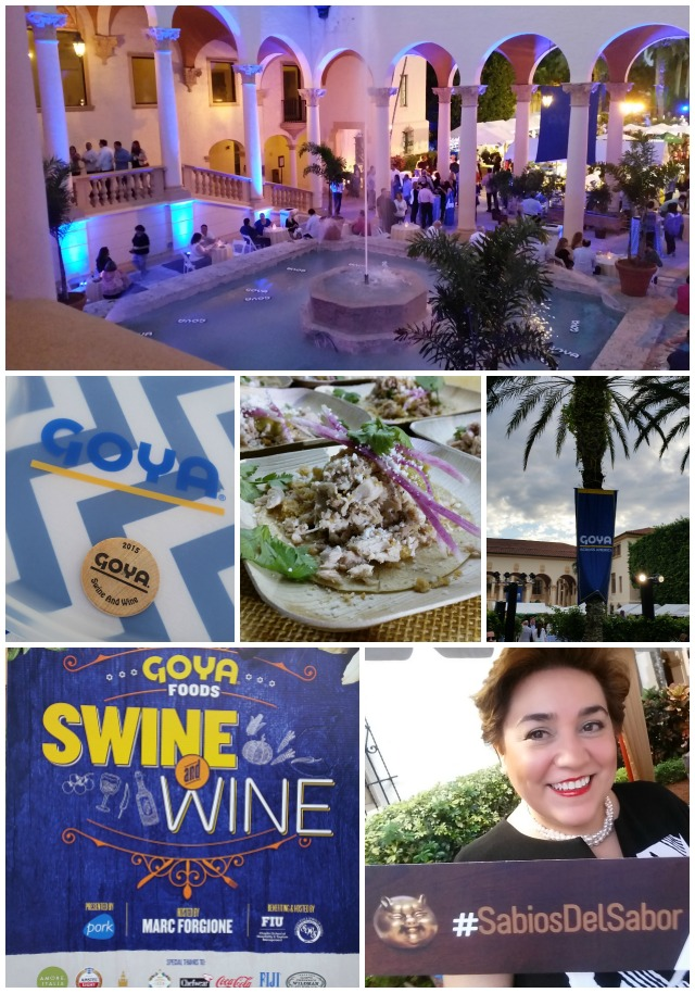 Aspects of the Goya Foods Swine and Wine presented by National Pork Board #SabiosDelSabor #ad #SOBEWFF