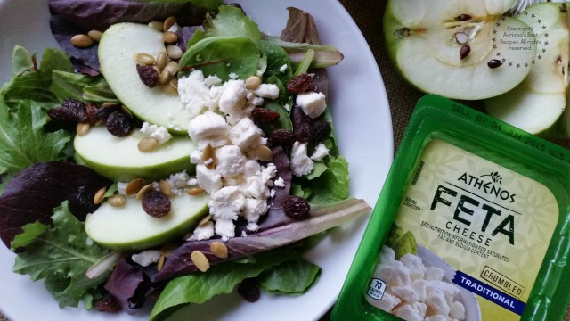 Green Apple Salad recipe with Athenos Feta Cheese #ComidaKraft #ad