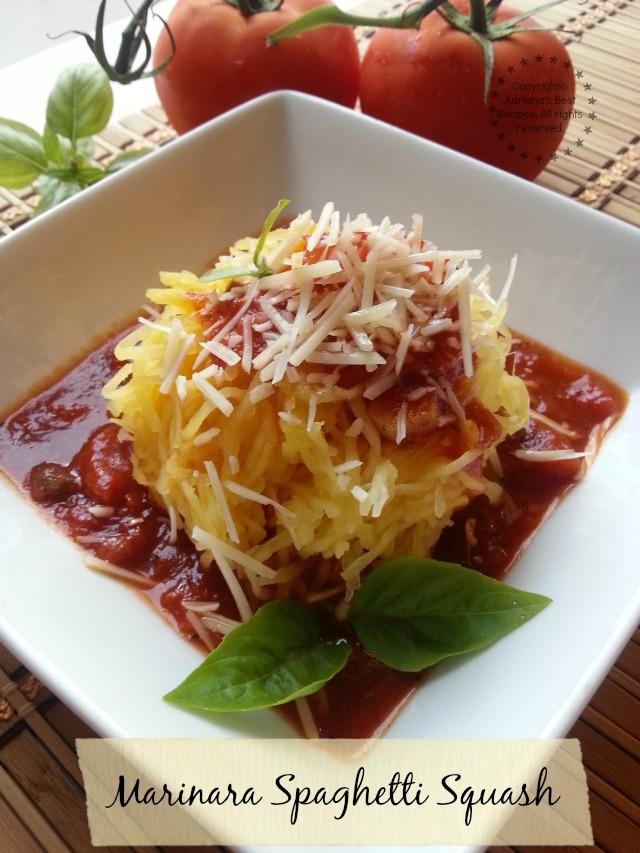 Marinara Spaghetti Squash easy and flavorful dish for lent #LentenRecipes