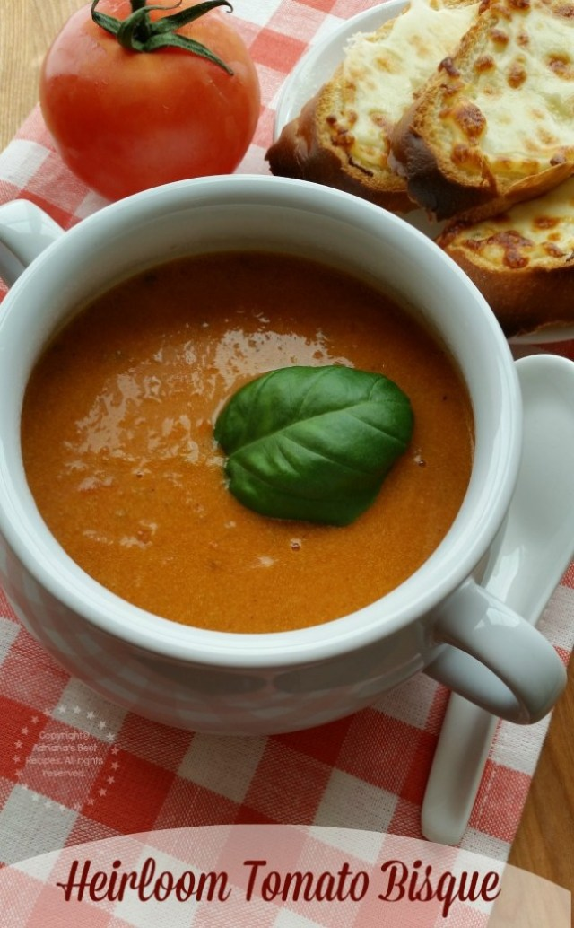 Heirloom Tomato Bisque is tasty and a good option to introduce the family to eat beets #LentenRecipes #ABRecipes