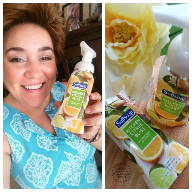 I invite you to try the Kitchen Citrus Bliss from Softsoap in your kitchen #FoamSensations  #ad