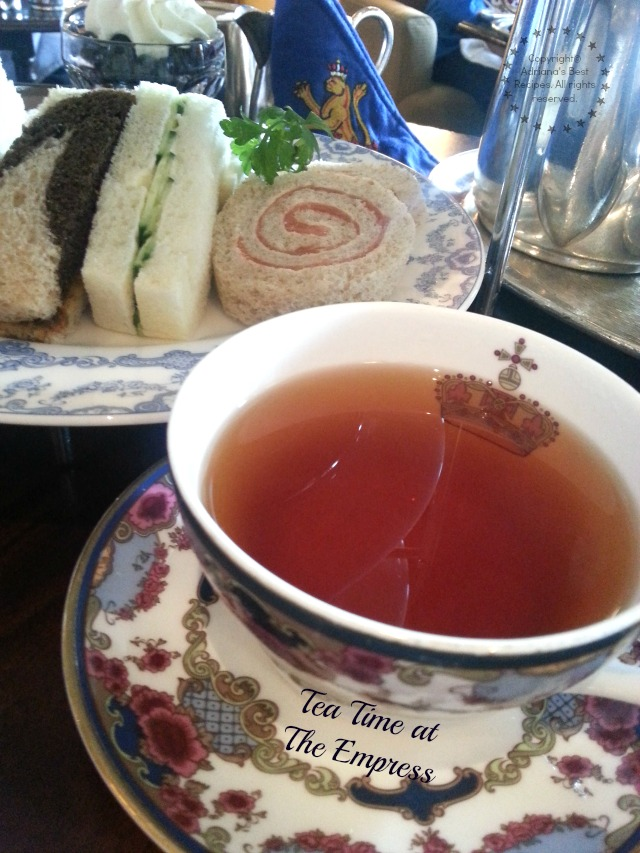 Tea Time at The Empress in Victoria BC #ViajaConBW