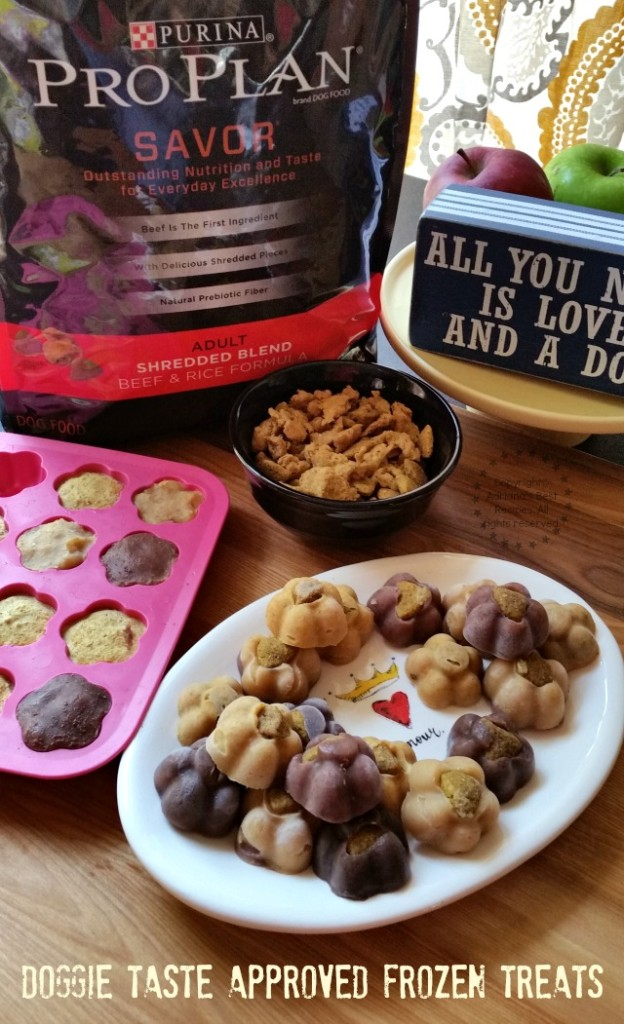 Doggie Taste Approved Frozen Treats for our four legged BFFs #ProPlanPet #ad