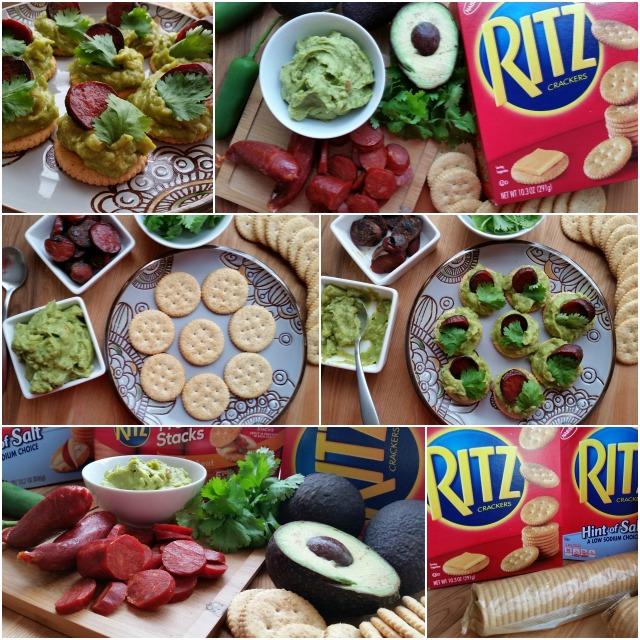 How to make the Spicy Guacamole Chorizo Snack #PutItOnARitz #ad