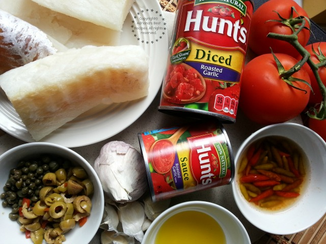 Ingredients for cooking the Spanish Style Cod recipe