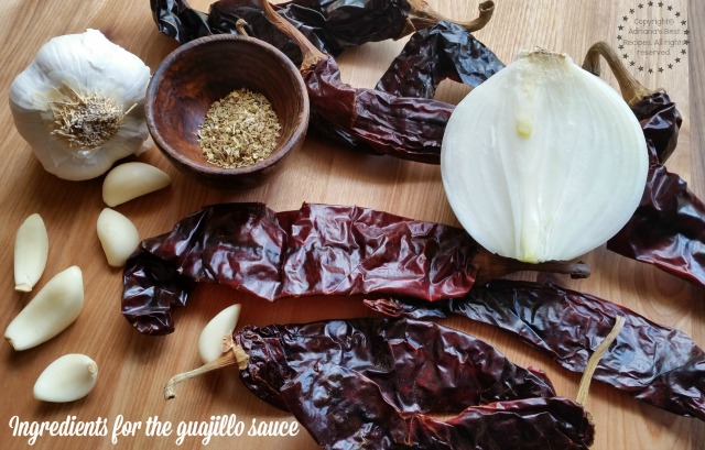 Ingredients for the guajillo sauce #DelimexFiesta #ad