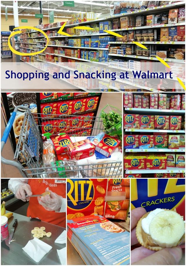 Shopping and snacking at Walmart #PutItOnARitz  #ad