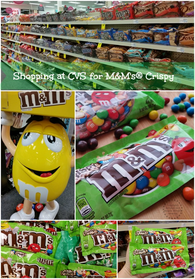 Shopping at CVS for M&Ms Crispy #CrispyComeback #Ad