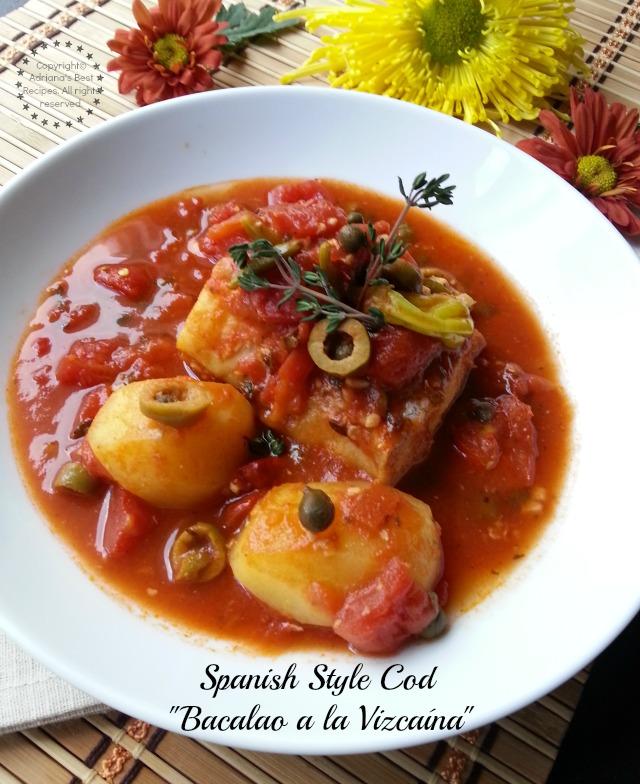Spanish Style Cod or Bacalao a la Vizcaína #ABRecipes