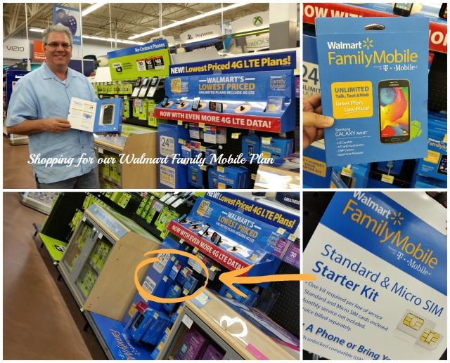 Shopping for our Walmart Family Mobile Plan #MobileMemories  #ad