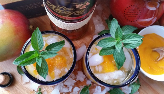 This Rum Mango Mint Julep with Zacapa rum is a delightful combination #ZacapaRum #ad