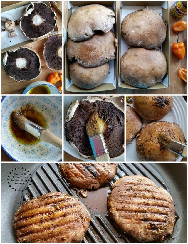 Grilling habanero portabella burgers #KingOfFlavor #ad