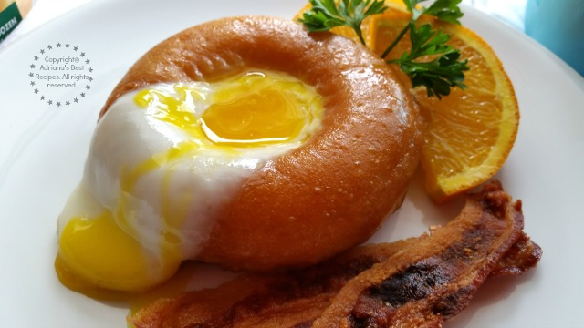 Heavenly bite is this Sunny Side Up Doughnut breakfast recipe