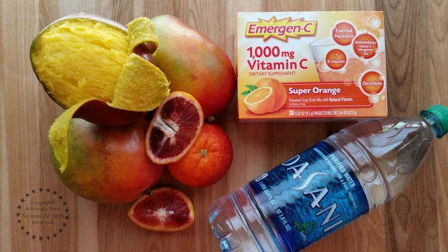 Ingredient for making the Mango Blood Orange Fizz #HealthyAndHydrated #Ad