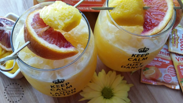 Mango blood orange fizz mango blood orange fizz recipe healthyandhydrated ad sisterspd