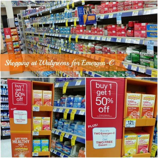 Shopping at Walgreens for Emergen-C #HealthyAndHydrated #Ad