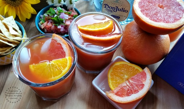 You can pair this Vampiro Cocktail with chips and salsa #DonJulio #ad