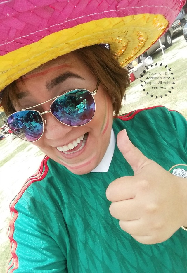 Adriana Martin ready to cheer for the Mexico National Soccer Team #7EFresh #ad