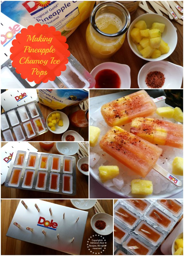 How to make pineapple chamoy ice pops #DOLEcioso #ad