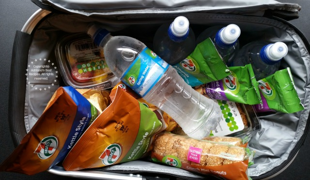 I am glad I brought my picnic basket which I filled pretty quickly with all the food items we found plus water and soda #7EFresh #ad