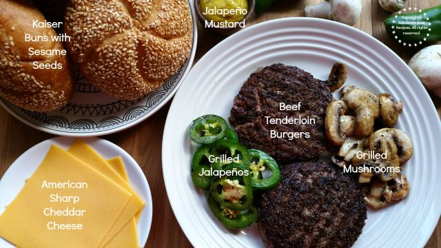 Ingredients for making Beef Tenderloin Burgers #ABRecipes