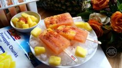 Pineapple Chamoy Ice Pops Recipe #DOLEcioso #ad
