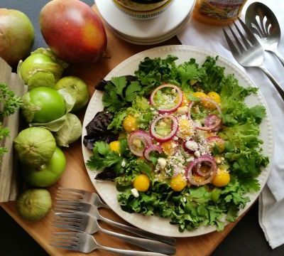 Tomatillo Salad with Mango