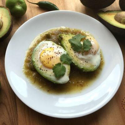Avocado Egg Breakfast with Salsa Verde