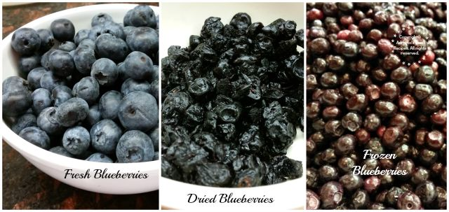 Blueberries are available fresh dried and frozen  #LittleChanges