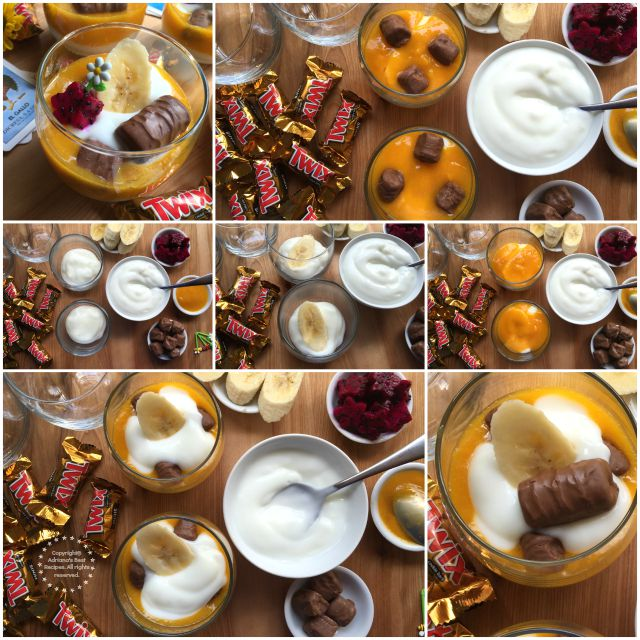 How to make Tropical Parfaits with MARS Chocolates #FunSizeMerienda #ad