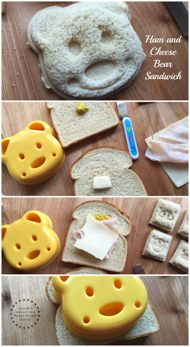 Making a ham and cheese bear sandwich #DoinGood #ad