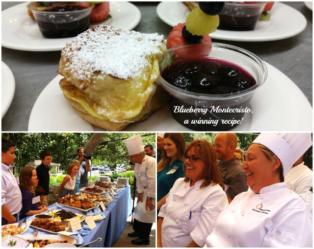The winning recipe per the children judging panel was this blueberry montecristo recipe  #LittleChanges