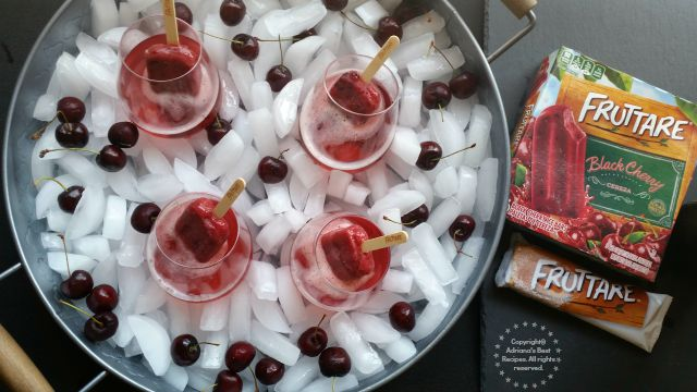 These cherry mimosas are ready in no time #FruttareLife #ad