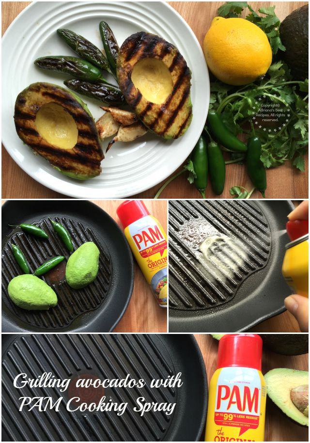 Grilling avocados with PAM Cooking Spray #PAMCookingSpray #ad