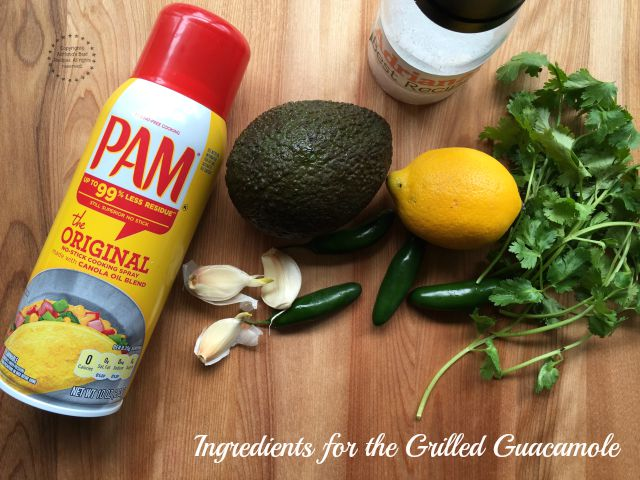 Ingredients for the grilled guacamole recipe #PAMCookingSpray #ad