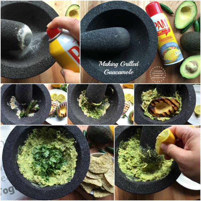 Making grilled guacamole for entertaining at home #PAMCookingSpray #ad