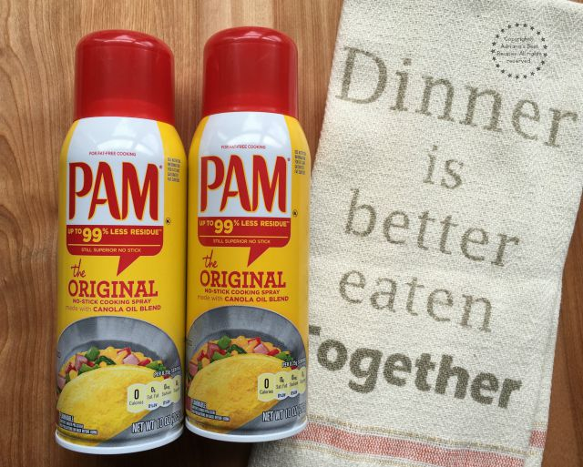 PAM Cooking Spray eases my time in the kitchen when putting together the perfect meal #PAMCookingSpray #ad