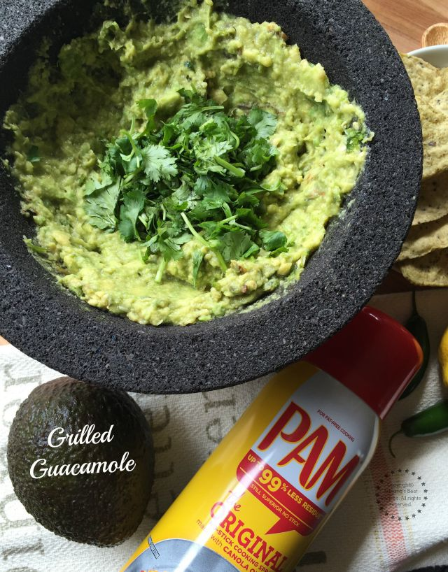 Tantalizing grilled guacamole recipe #PAMCookingSpray #ad