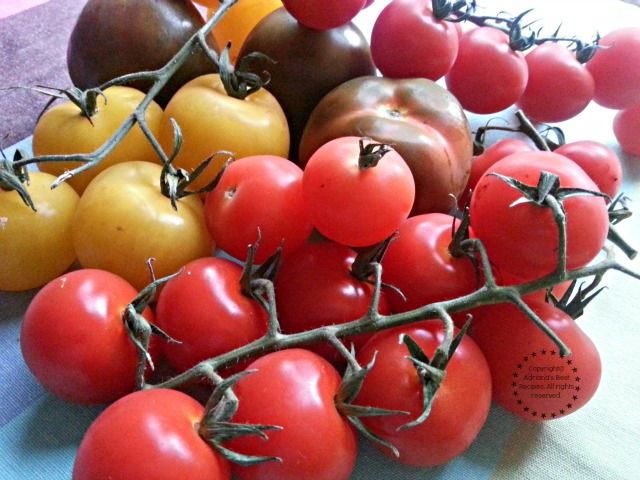 Cherry and heirloom tomatoes