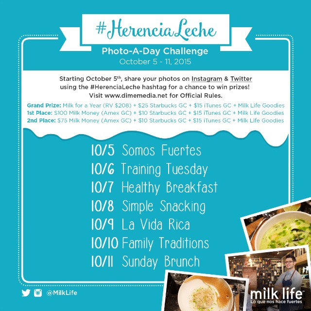 join the #HerenciaLeche Photo Challenge from October 5th through the 11th for a chance to win awesome prizes #ad