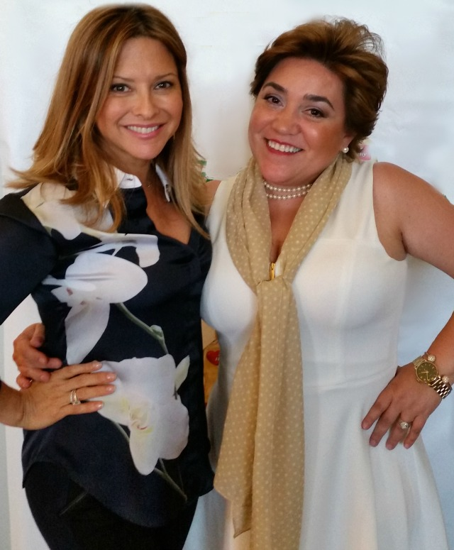 Chef Ingrid Hoffman and Adriana Martin