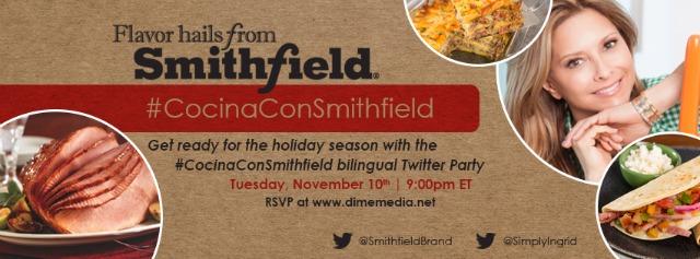 Cocina con Smithfield Twitter Party November 10 at 9pm EST #CocinaConSmithfield AD
