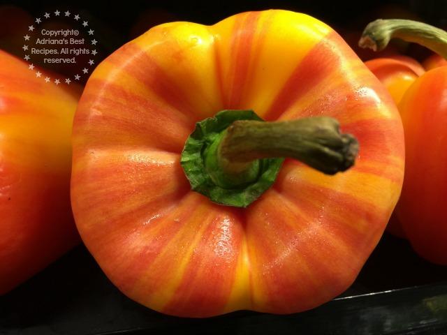 Fresh produce from a pepper farm in California