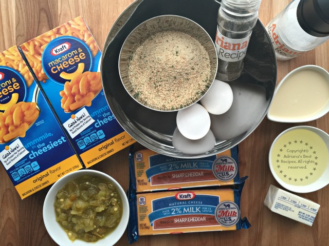 Ingredients for the Jalapeño Mac N Cheese Bites #EasyKraftMeals AD