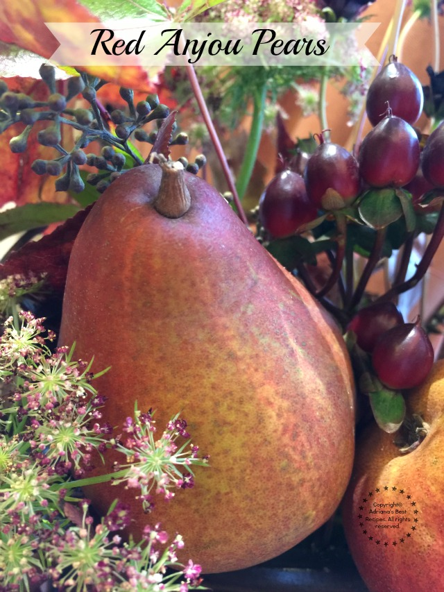Nothing like beautiful fresh fruits like this red anjou pears