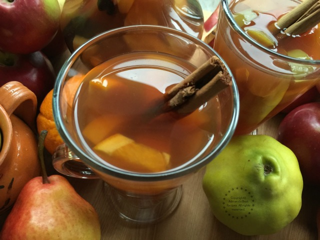 The Mexican Holiday Fruit Punch or Ponche is a great drink for gatherings