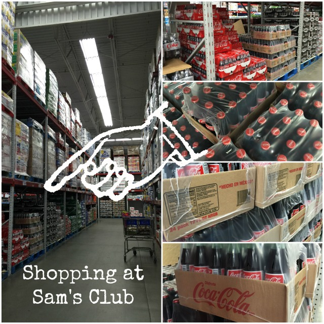 Shopping at Sam's Club for Coke de Mexico Coca-Cola in glass bottles #ShareHolidayJoy