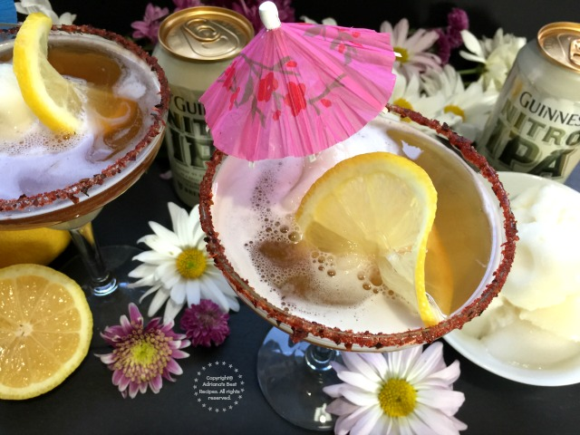 Garnish with lemon rounds and a cute umbrella
